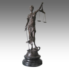 Mythe Figure Antique Statue en laiton Justice Déesse Bronze Sculpture TPE-948