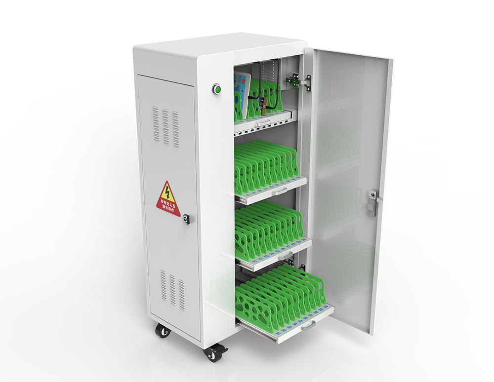Tablet charging trolley in office