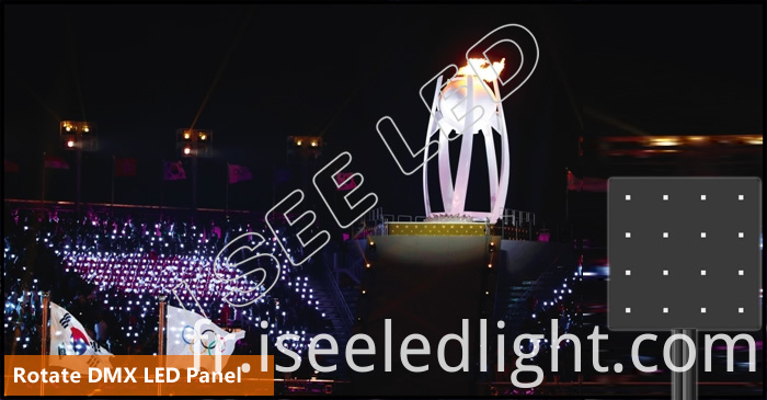 Rotate dmx led panel stadiuminstallation