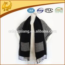 Spanische Garn gefärbte Muster Schals und Schals Pashmina, Großhandel 100% Viskose Baumwolle Schals mit Taschen