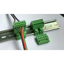 Armario de puerta Bloque de terminales enchufable montado en riel DIN