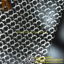 Cortina de metal de malha de anel decorativo de aço inoxidável