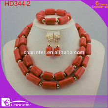 nigerian coral beads african fashion jewelry set crystal beads jewelry beads jewelry set beautiful jewelry sets HD344-2