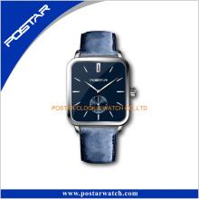 Special Color Squar-Shaped Swis Movement Quartz Leather Watch