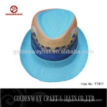 Custom Blue Fedora hats for Women