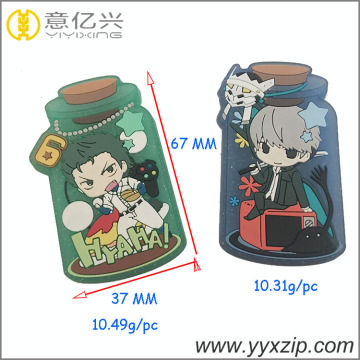 OEM cute cartoon pvc bottle logo patch