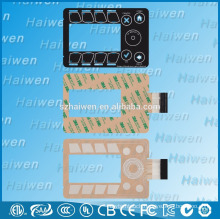 Capacitive sensing touch PET membrane switch with 3M468
