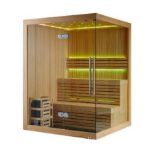 Luxury African Ayous White Wood Sauna Wooden House