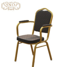 Wholesale China Alibaba furniture metal iron cheap hotel armrest banquet chairs for conference used