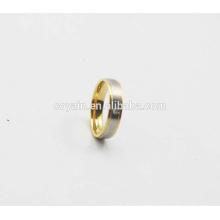 Venta al por mayor boda de compromiso 316L de acero inoxidable par de anillo de diseño