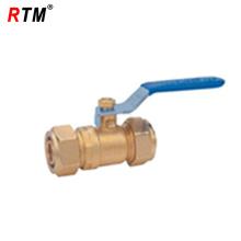 válvula de bola de gas de compresión de latón