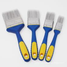 Synthetic Fiber Double Color Soft Grip Handle Painting Tools Oil Paint Brush Set