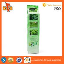 FDA aprobó la impresión personalizada chino gusset vacío vacío verde bolsa de té de embalaje