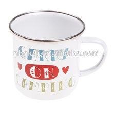 Enamel carry on camping mug Enamel carry on camping mug