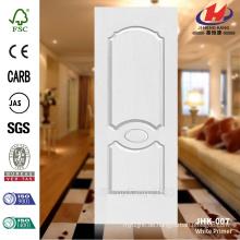 JHK 007 Klassischer ökonomischer Amerikanischer Masonit Weißer Primer HDF Tür Skin Weit verbreitetes Hotel