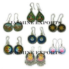 Indische handgemalte Ohrringe