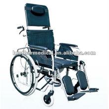 Recling Steel Wheelchair (cadeira de rodas multifuncional para deficientes)