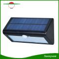 Luz de pared solar del jardín del sensor de movimiento del triángulo 4000mAh 36 LED