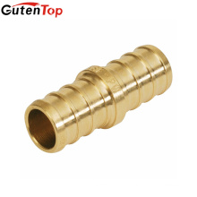 GutenTop High Quality Lead Free Brass PEX Straight Coupling Crimp Fitting with 1/2 Inch