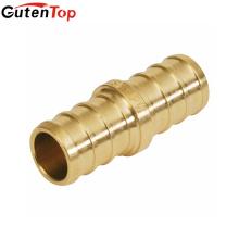 GutenTop высокого качества бессвинцовая Латунь прямой Муфта трубы PEX Обжимной фитинг 1/2 дюйма