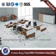 New Design L-Shaped 4 Person Office Workstation Partition Cubicle (HX-6D049)