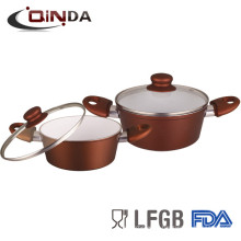 ceramic forged aluminum big cooking pot ceramic coating