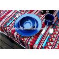 White/black/blue enamel mug/enamel plate/enamel mug