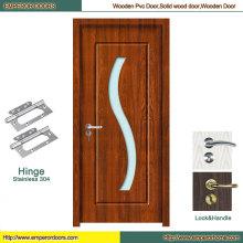 Fire Door Glass Puerta corredera de PVC puerta