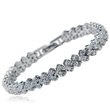 China Maior qualidade Roman Zircon pulseira luxuoso zircon pulseira nova modelo slave pulseira