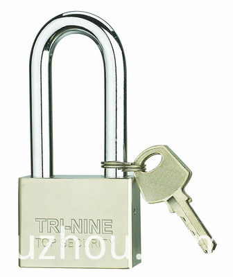 Square Pins Iron Padlock With Long Shackle