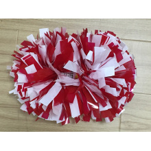 Wet Look Red and White Mix POM Poms