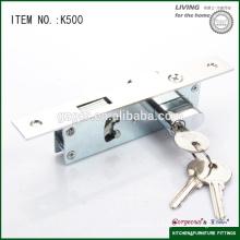 2016 best selling wooden glass sliding door hook lock furniture hardware