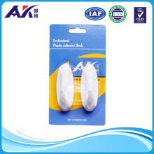 Permanent Foam Adhesive Plastic Bathroom Hanging Hook