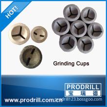 High tech diamond grinding cup wheel for button bit