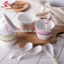 Cerâmica, fruta, tigela, novo, osso, china, tigela