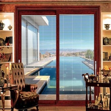 Aluminum Sliding Door with Built-in Blind