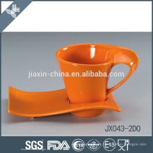 043-2DO 180CC Taza y platillo japoneses de cerámica a medida de buena calidad