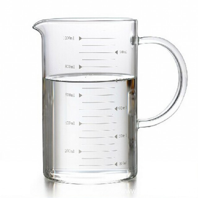 Big Measuring Glass Cup With Holder
