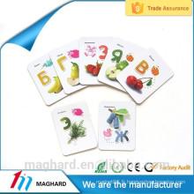 Aimant de réfrigérateur fort personnalisé bon marché de haute qualité, carte magnétique pour l'éducation des enfants, bâton magnétique pour l'école