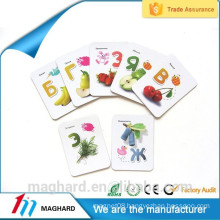 High Quality Cheap Custom strong fridge magnet, magnetic card for kids education, magnetic stick for school