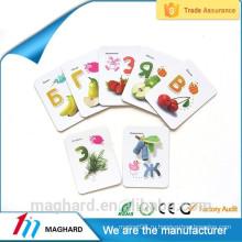 Высокое качество Дешевые пользовательские сильный магнит холодильник, магнитная карта для образования детей, магнитная ручка для школы