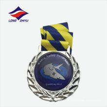 Medalha de metal da partida de natação de venda direta da fábrica