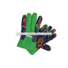 Gant de jardinage en coton à pois PVC (2601)