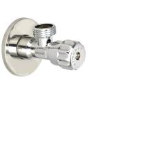 Personalizado de pulido de calidad cromado latón válvula de ángulo (AV3063)
