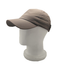 polyester brown baseball cap customized logo