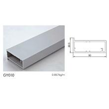 Perfil de cozinha de alumínio em prata fosco anodizado