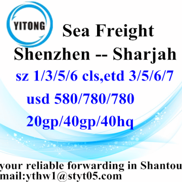 Shenzhen Global Freight Forwarding por mar para Sharjah