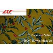 Poliéster Cetim 50 * 75D Twistificação / 75D * 75D