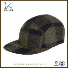 Chapeau fait sur commande de logo de la flanelle 5 de grille / laine faite sur commande du panneau 5 de panneau / 5