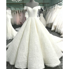 Sexy off the shoulder champagne women wedding dress 2017 luxury WT365